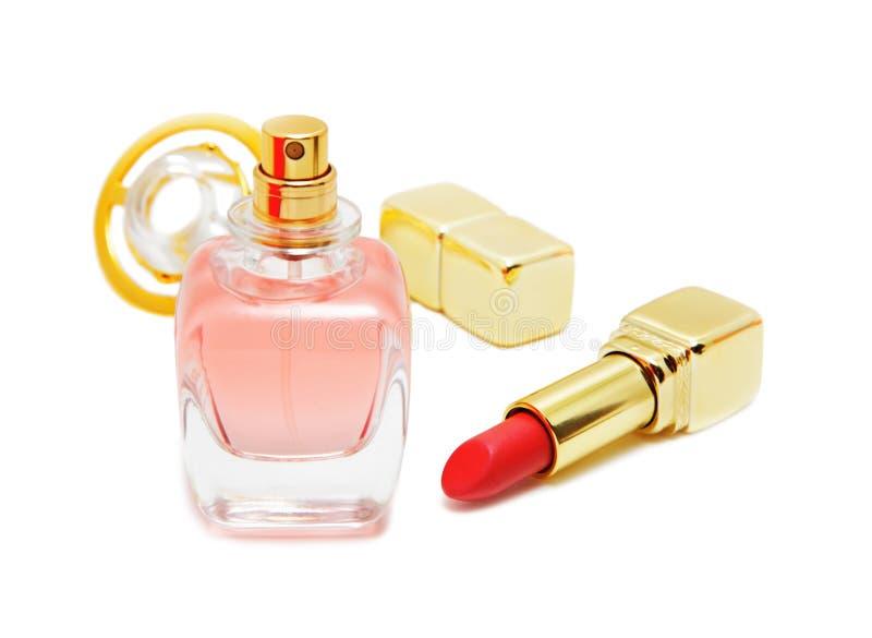 red för flaskläppstiftdoft royaltyfri bild