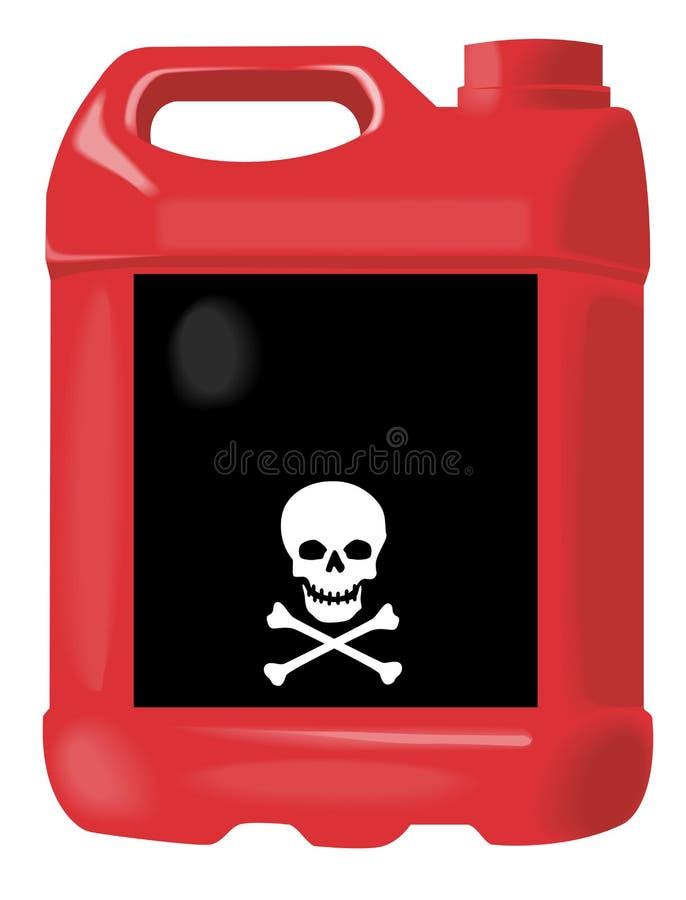 red för flaskmotorolja stock illustrationer