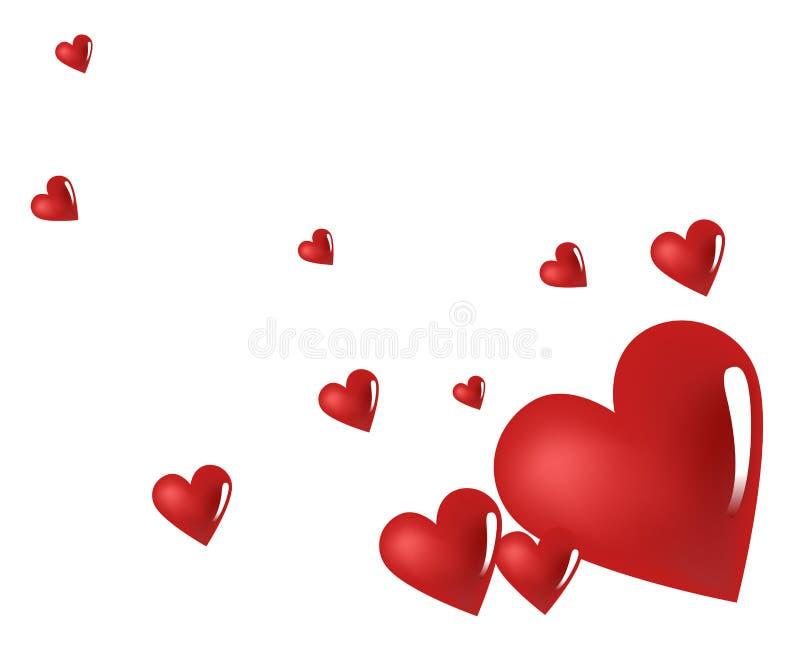 red för hjärta 3d royaltyfri illustrationer