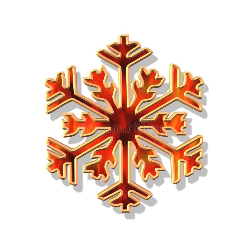 red för julflakeguld stock illustrationer