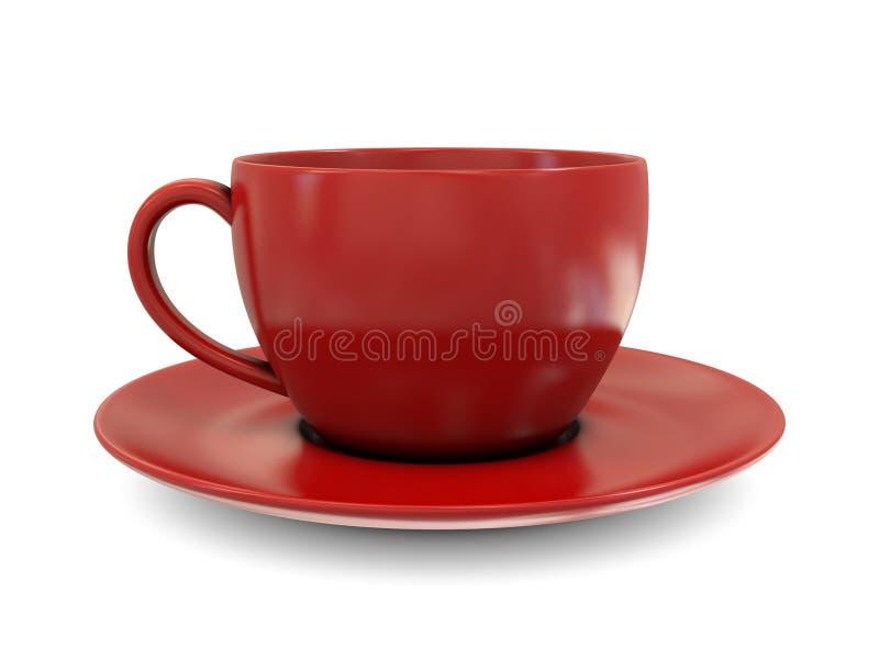 red för kaffekopp stock illustrationer