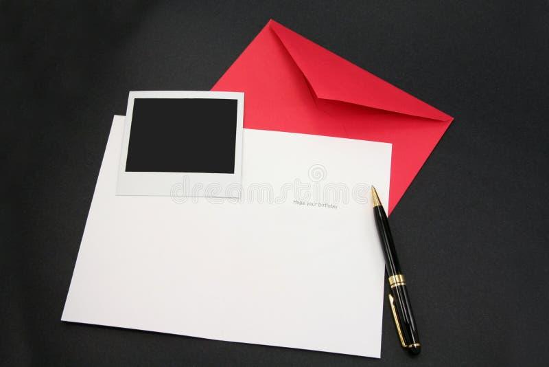 red för kortkuverthälsning fotografering för bildbyråer