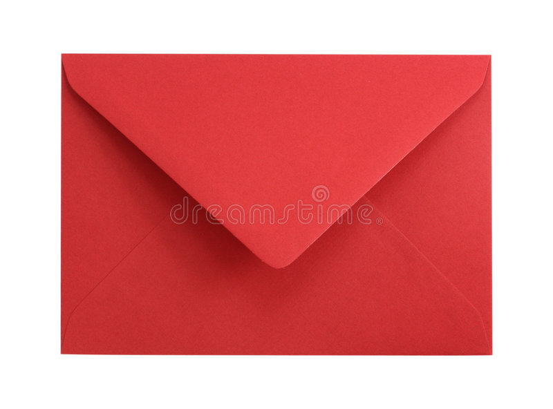 red för kuvertpapper royaltyfria foton