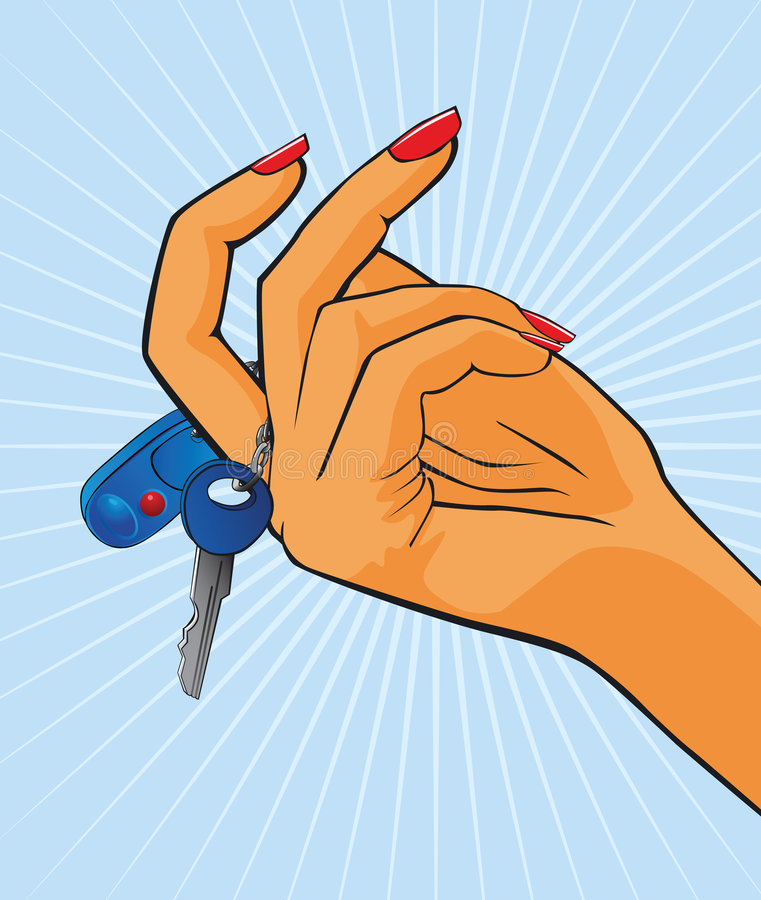 red för kvinnlighandmanicure stock illustrationer