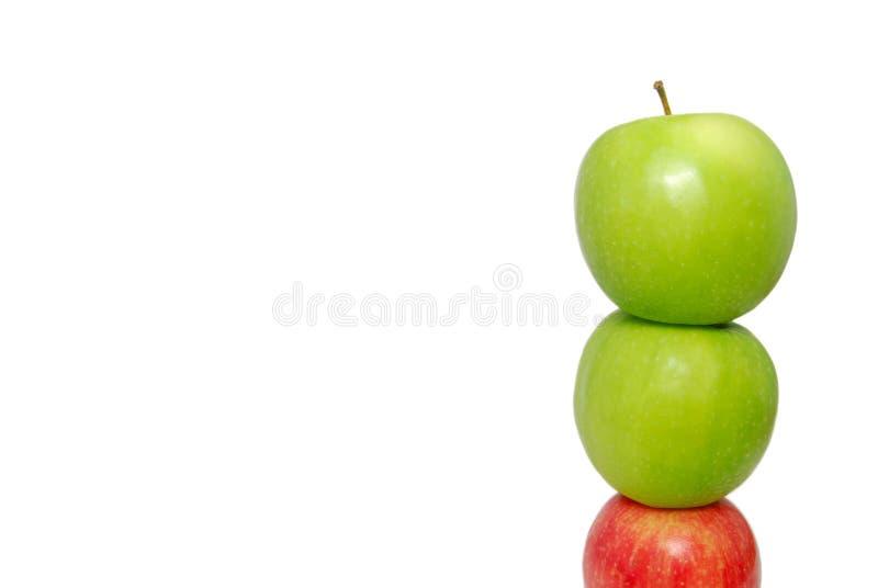 red för stapel för äppleäppleunderkant royaltyfri fotografi