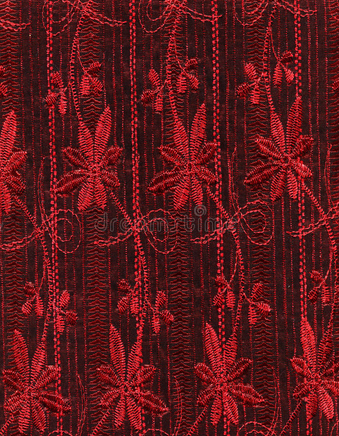 Download Red fabric stock image. Image of luxurious, pattern, leaf - 24026615