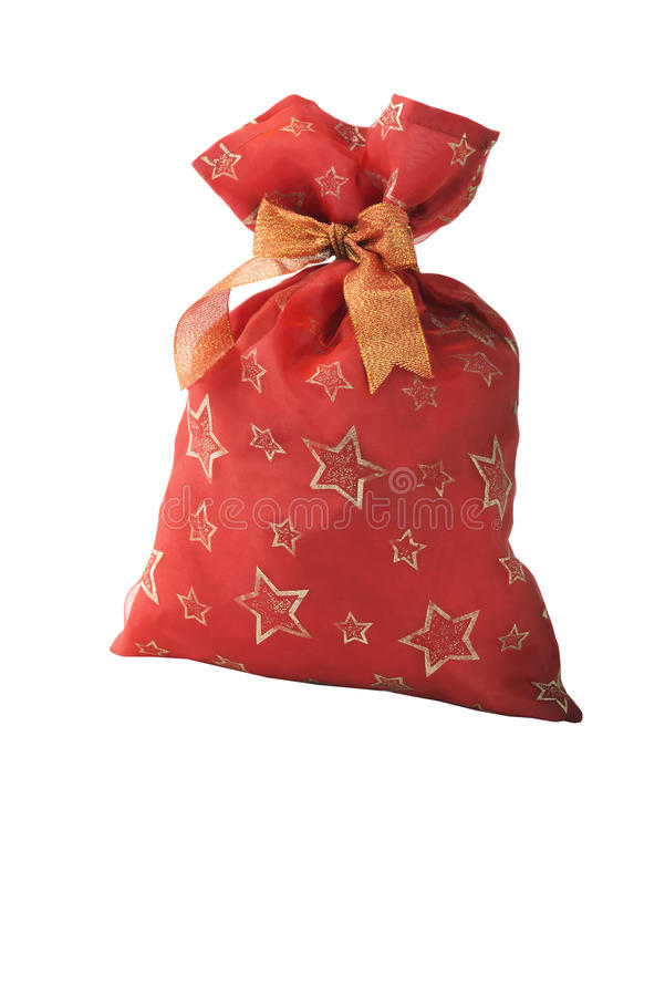 Free Red Fabric Bag With Bow Royalty Free Stock Photos - 47876758