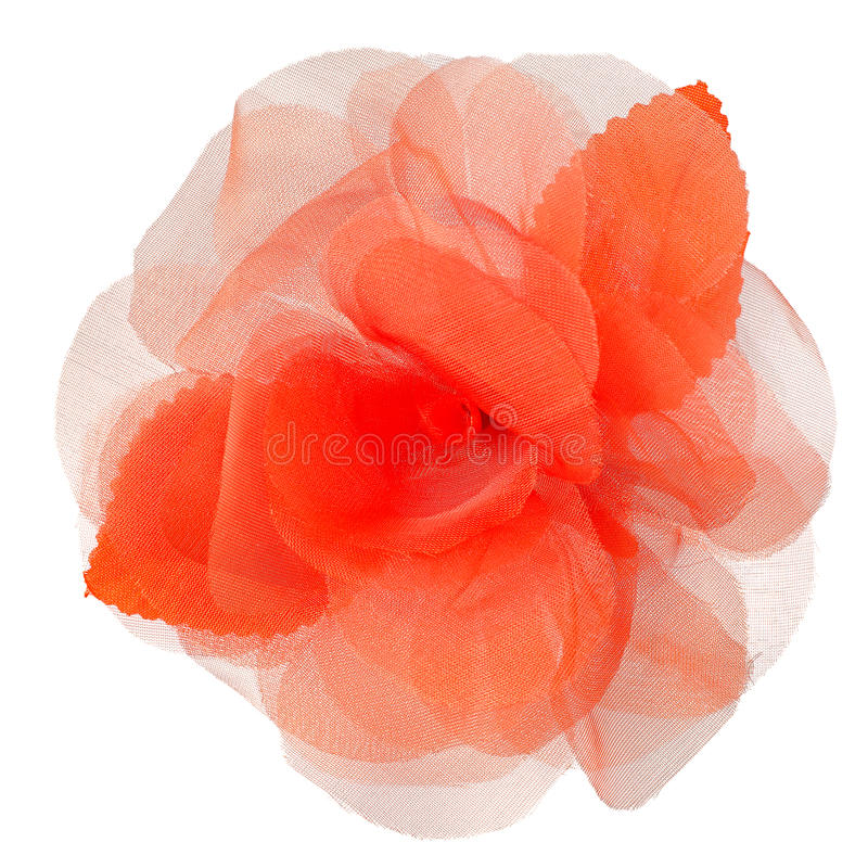 Red Fabric Flower Royalty Free Stock Photo