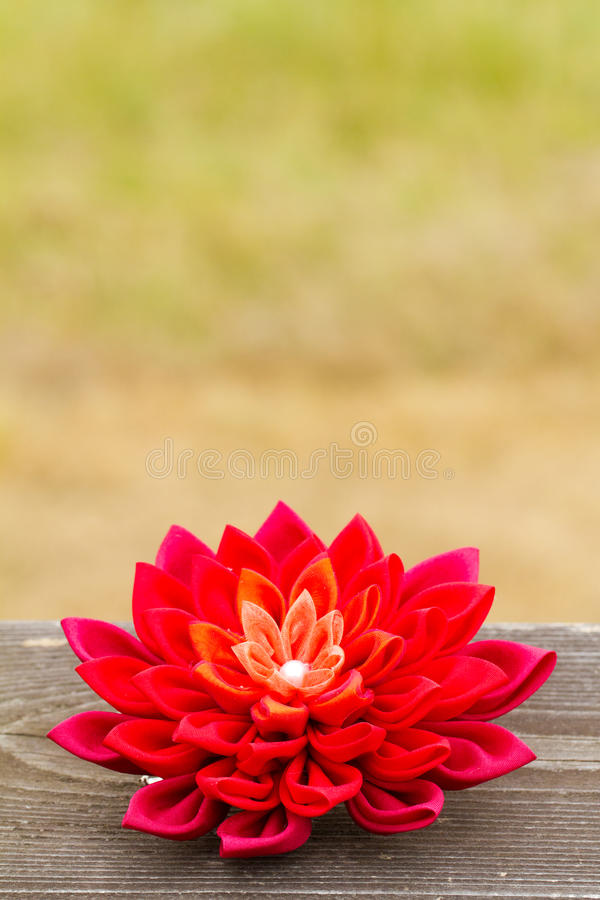 Red Fabric Flower Royalty Free Stock Photos