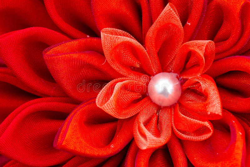 Red Fabric Flower Royalty Free Stock Images