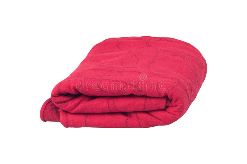 Download Red Fabric Isolated On White Stock Photo - Image: 12945884