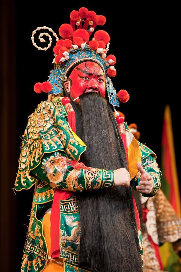Red face China opera man royalty free stock photos