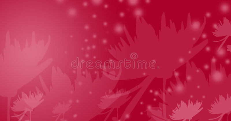 Red fairy-tale flowers vector illustration