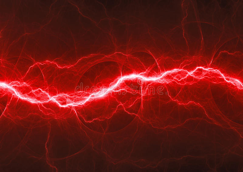 Red Fantasy Fractal Lightning Stock Illustration Of