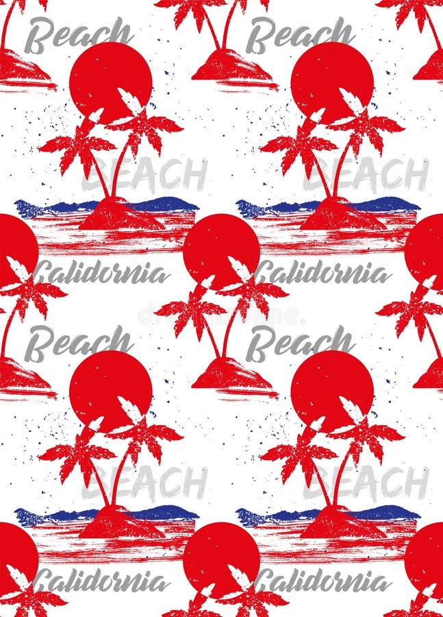 Pattern palms california royalty free illustration