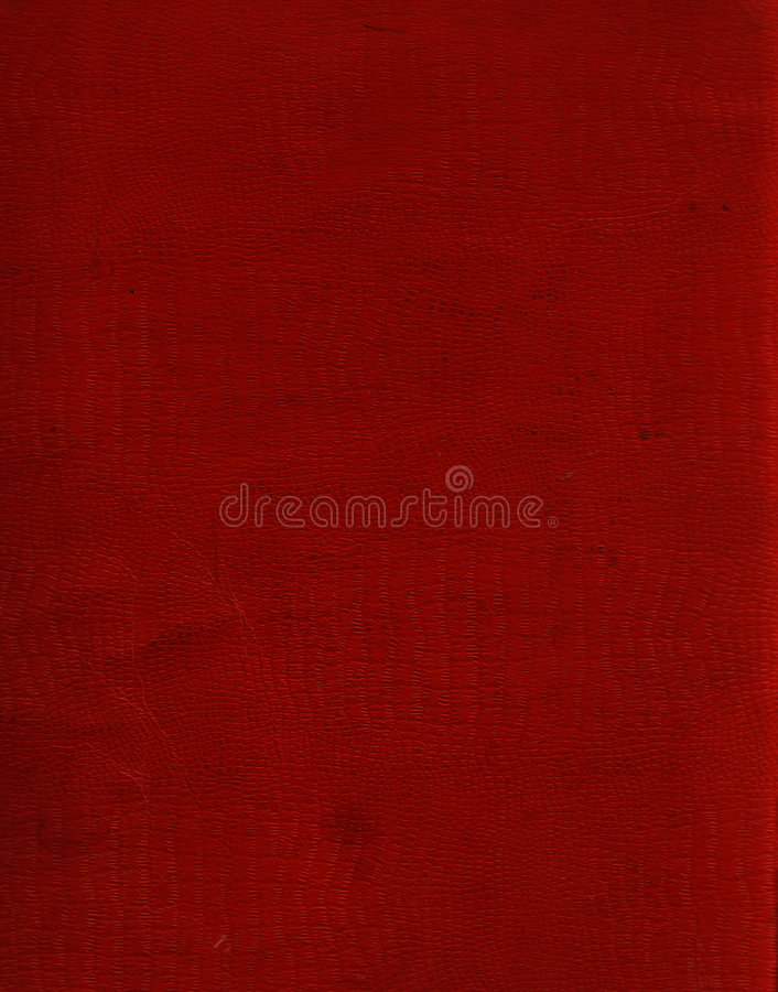 Red Faux Crocodile Leather stock image