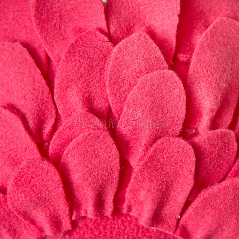 Red felt. Material pattern as a background royalty free stock image