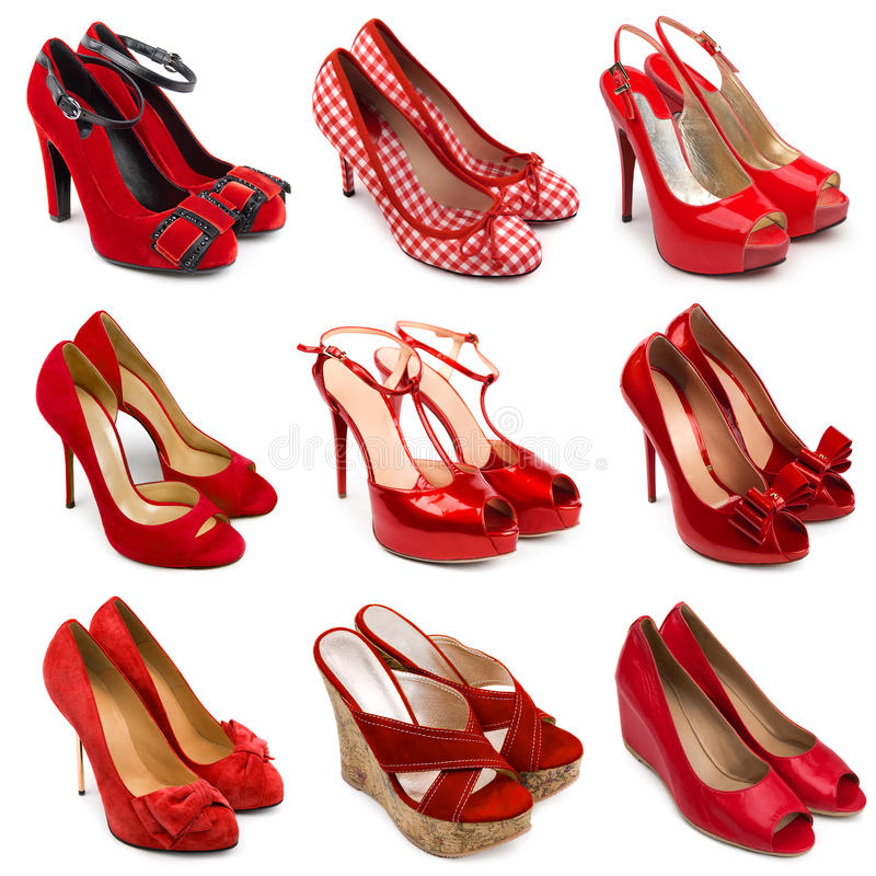 Free Red Female Shoes-2 Royalty Free Stock Image - 25352966