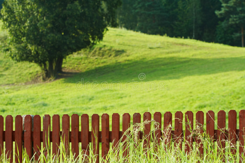 Red fence stock photography