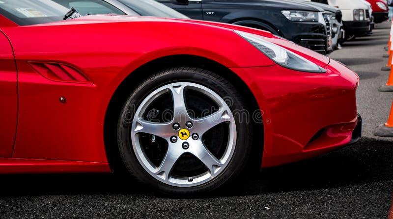 Red Ferrari California stock image