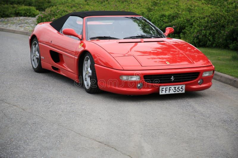 Red Ferrari Convertible Parked stock photos