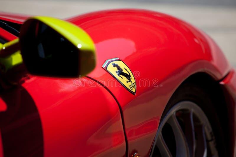 Red Ferrari F430 F1 royalty free stock image