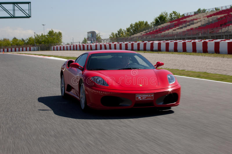 Red Ferrari F430 F1 royalty free stock images
