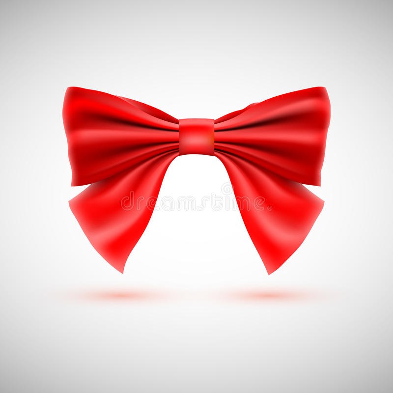 Red festive bow stock illustration