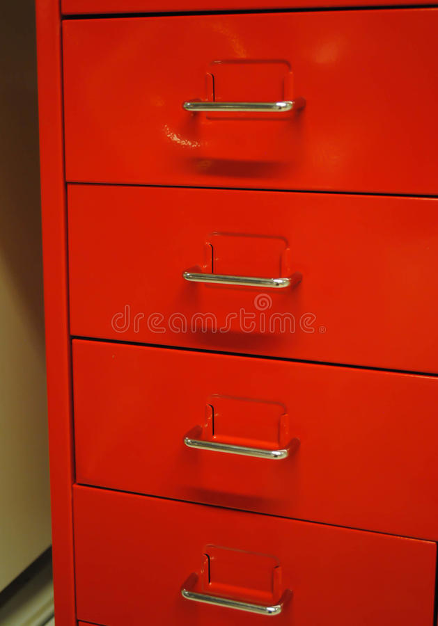 Download Red Filing Cabinet Stock Image. Image Of Organization   20807979