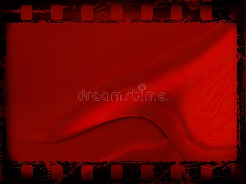 Red film frame stock illustration