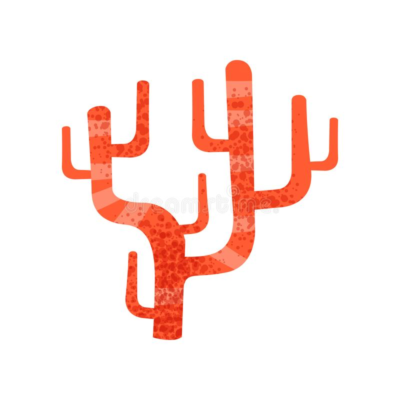 Free Red Finger Leather Coral. Aquarium Invertebrate Animal. Marine Ecosystem. Sea And Ocean Life. Flat Vector Icon With Stock Photography - 126438222
