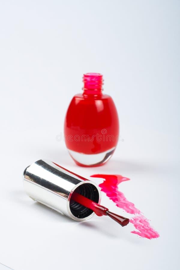 Download Red fingernail polish stock image. Image of brush, makeup - 908409
