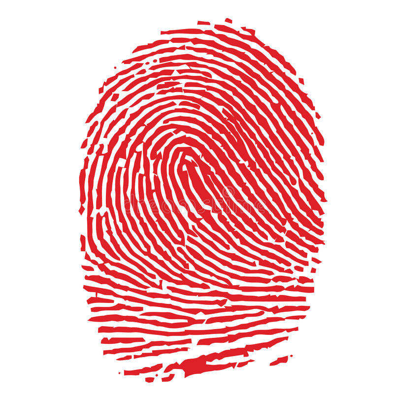 Download Red FIngerprint stock vector. Illustration of individuality - 4061249
