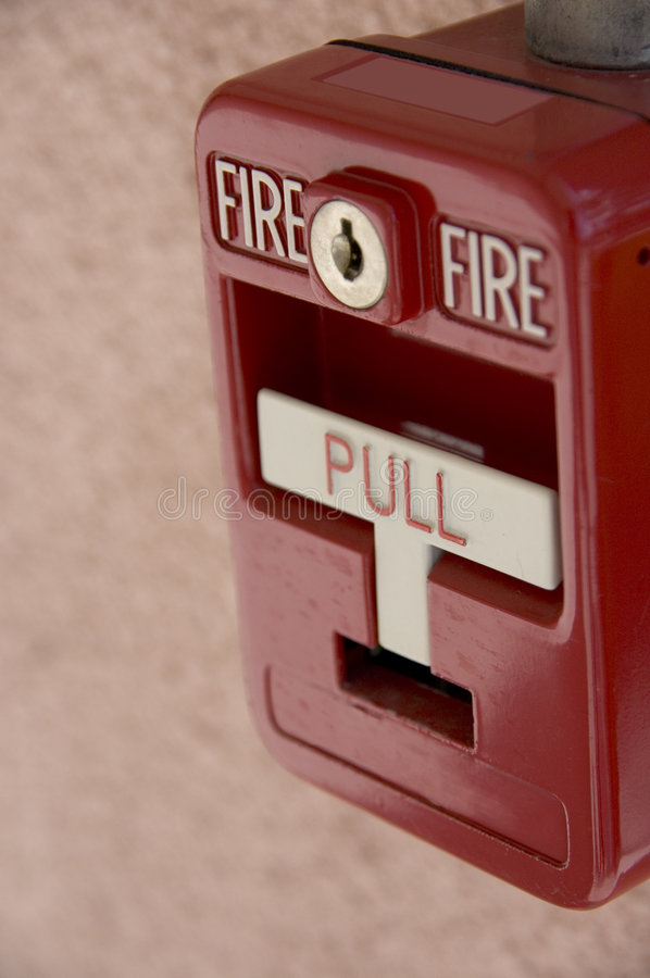 Red fire alarm royalty free stock photography