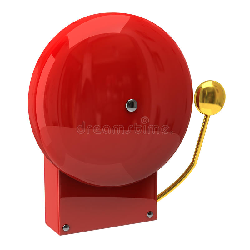 Red fire alarm royalty free illustration