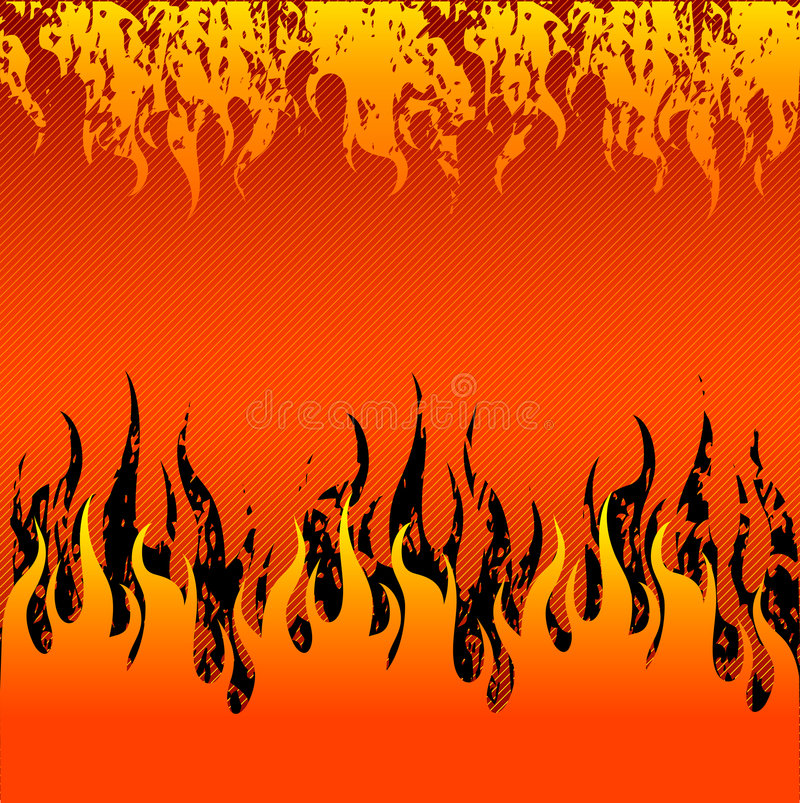 Red Fire background stock illustration