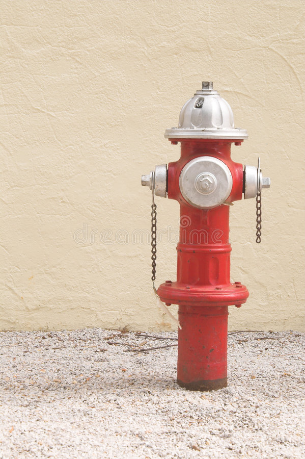 Download Red fire hydrant stock photo. Image of wall, cream, building - 3067168