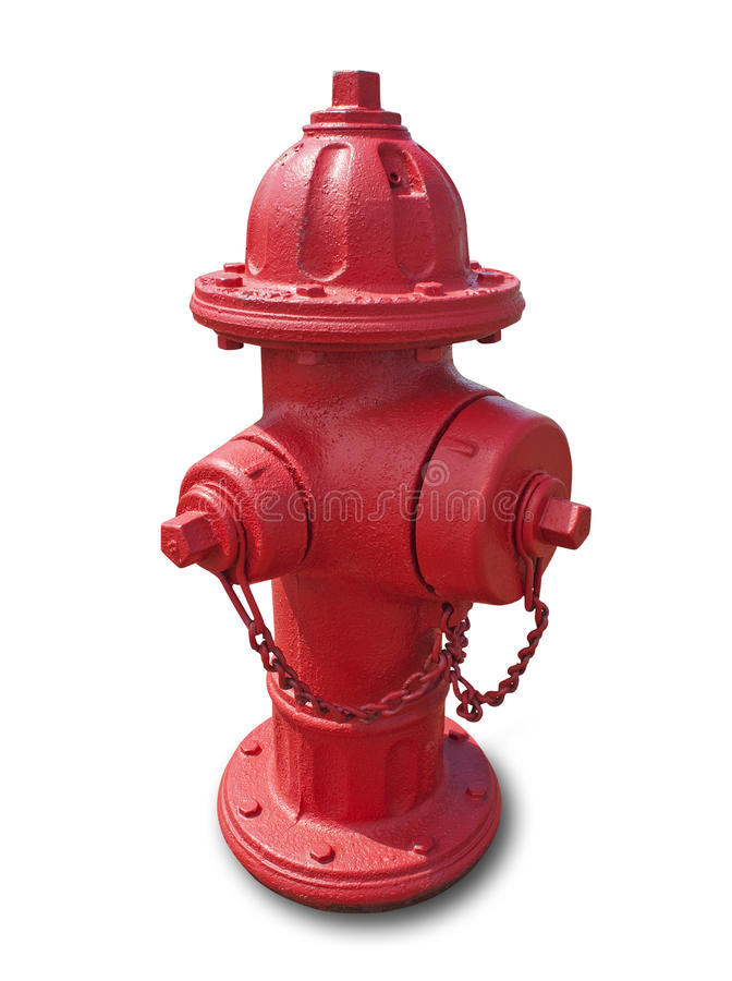 Red Fire Hydrant, Isolated Royalty Free Stock Images