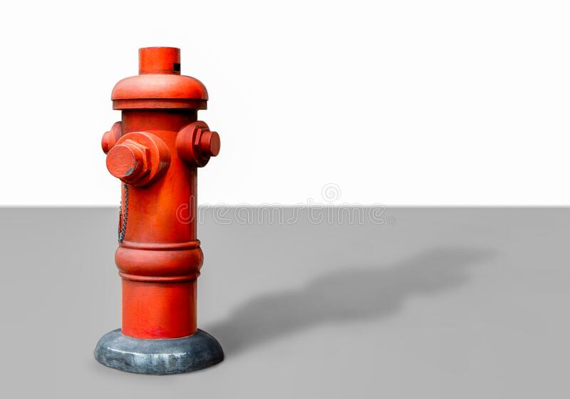 Red fire hydrant isolated on white background with copy space for your text or image stock photo