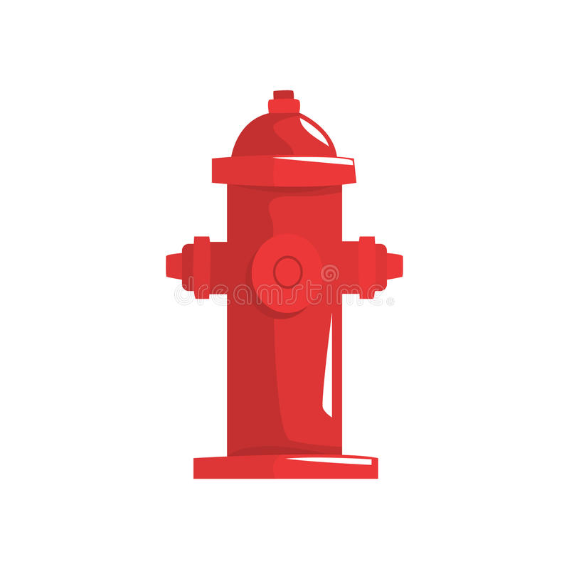 Red fire hydrant vector Illustration. Isolated on a white background vector illustration