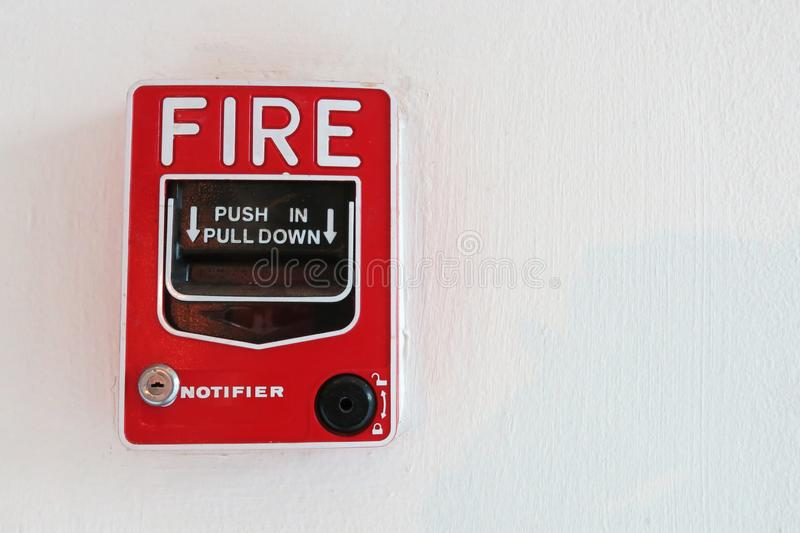 Fire Alarm Notifier On Wall Stock Photo - Image of control, building