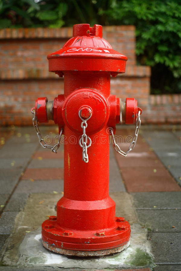 Red fire plug. A big red fire plug royalty free stock photography