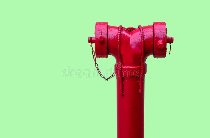 Red Fire pumps. On the street stock images
