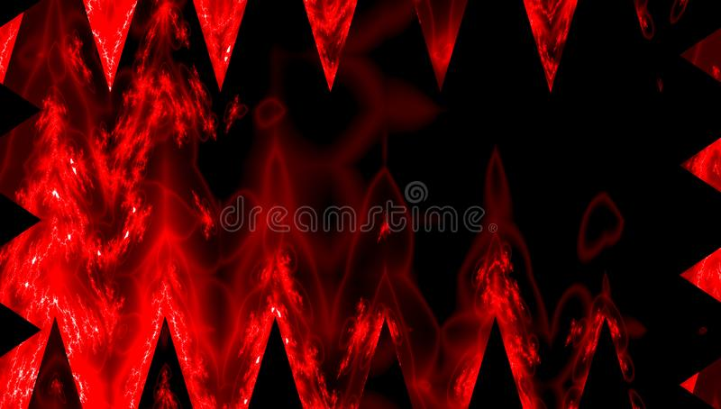 Red fire rays on dark background with copy space. Red fire on dark background with copy space stock illustration