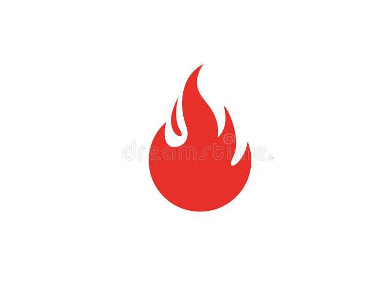 Red fire symbol and flame for logo stock photos