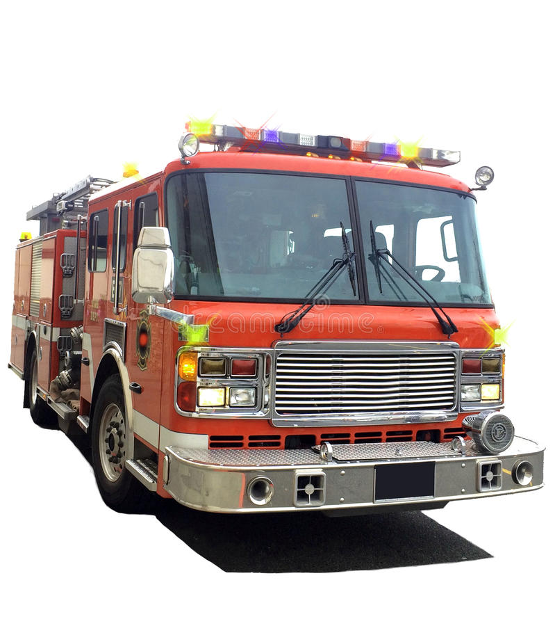 Red Fire truck stock photos