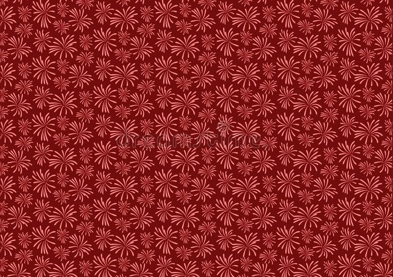 Red firework blast pattern design wallpaper. For background use or for image or text layout royalty free illustration