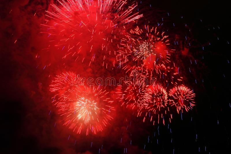 Red Firework stock photography