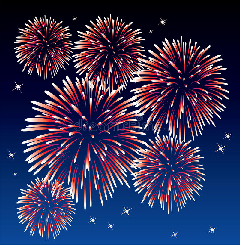 Free Red Fireworks Royalty Free Stock Images - 13848709