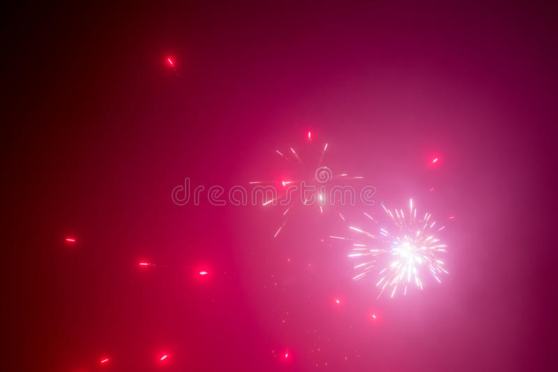 Red Fireworks Free Stock Photo: Red Fireworks Abstract Background Stock Image